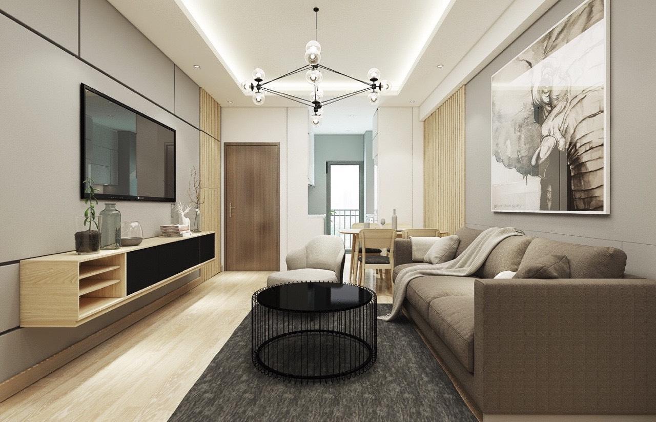 Một công trình xây dựng trọn gói được hoàn thiện nội thất