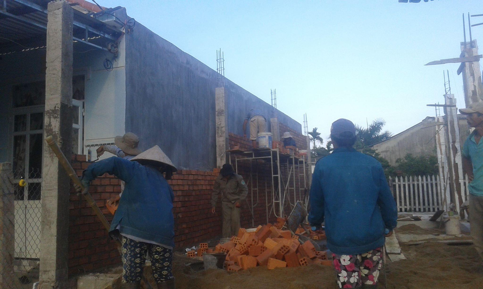 Quá trình thi công xây dựng thực tế của Quang Phúc