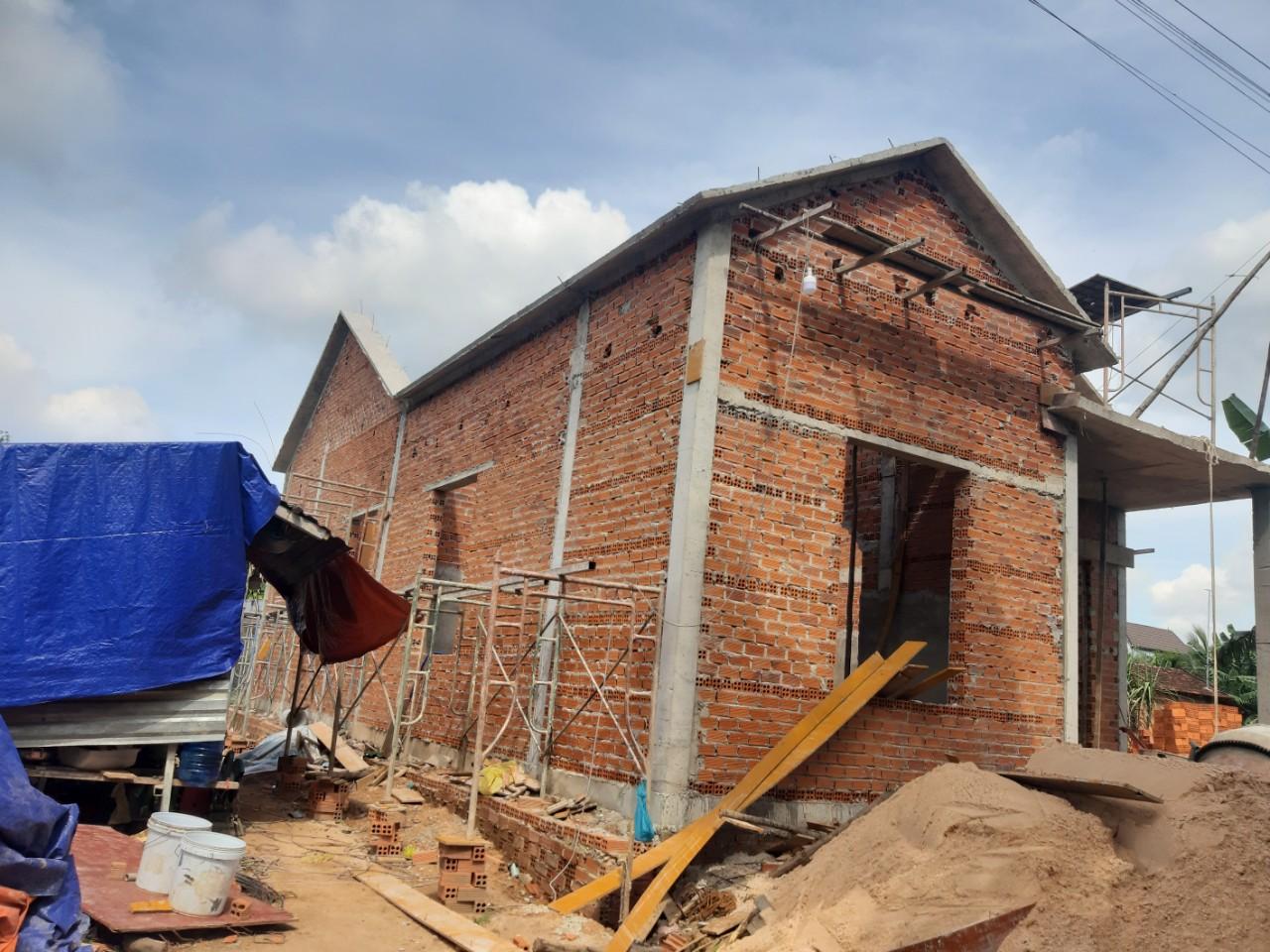 Một công trình đang được Quang Phúc xây dựng