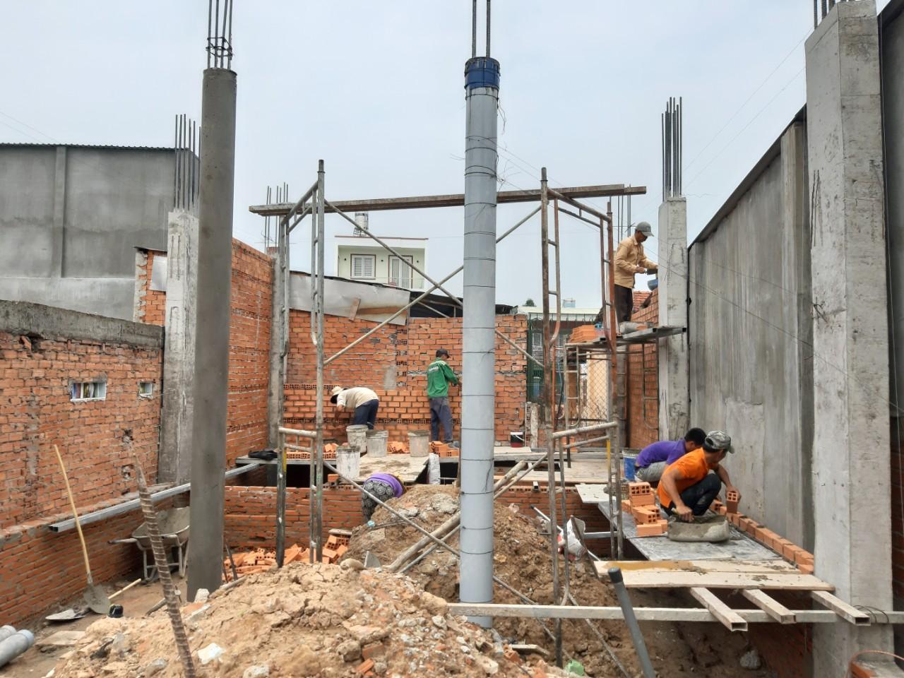 Thi công xây dựng nhà phố ở Nghĩa Hành với Quang Phúc
