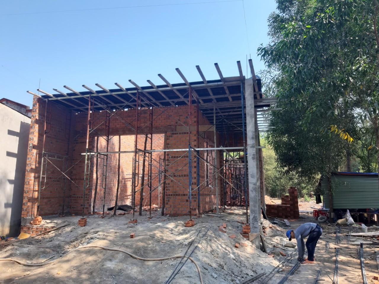 Một công trình đang được Quang Phúc xây dựng tại Sơn Tây