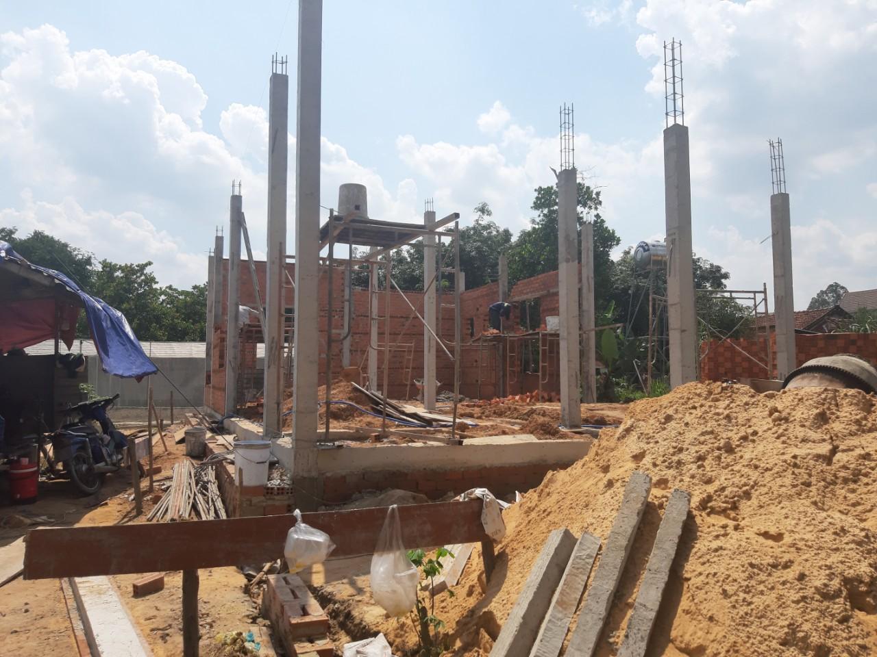 Một công trình đang xây dựng tại Tư Nghĩa bởi Quang Phúc