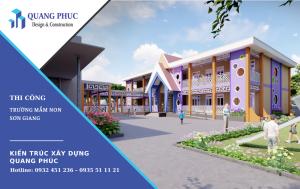 Thiết kế xây dựng trường Mầm non Sơn Giang